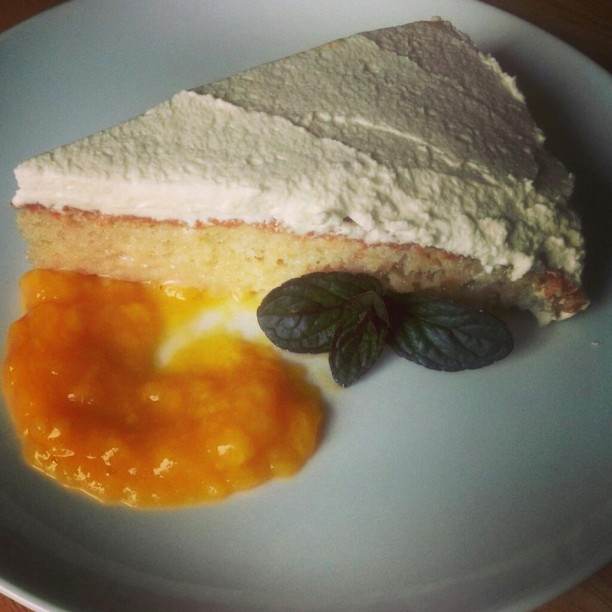 Tres Leches with Mango Puree
