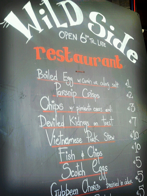 The Wild Side's Menu