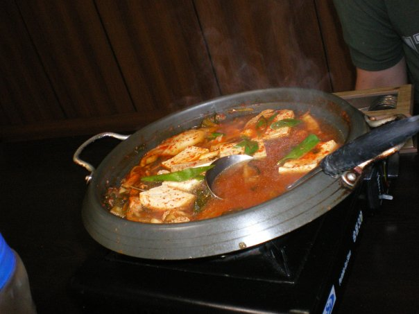 Kimchi Jiggae in Baengyeongdo (an island off the coast of North Korea).