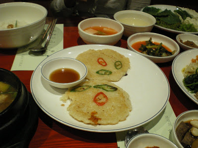 Gamja Jeon, potato pancakes. Killer.