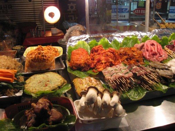 Street food in Namdaemun Market, Seoul