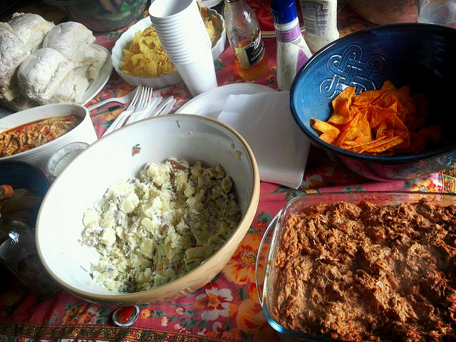 Mole Chicken and Monica's Potato Salad