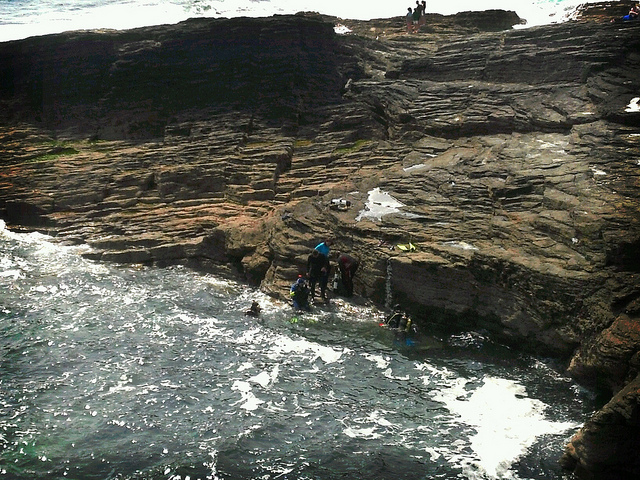 Scuba Diving from the rocks