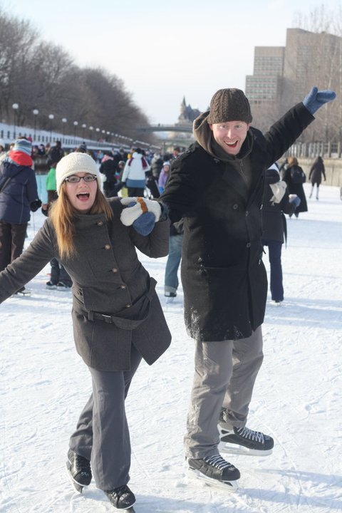 Enjoying Canadian Winter on the Rideau Canal in Ottawa