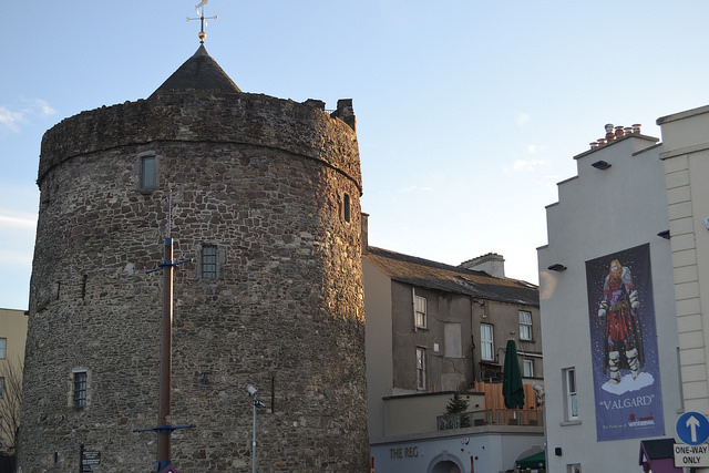 Reginald's Tower and our viking protector, Valgard.