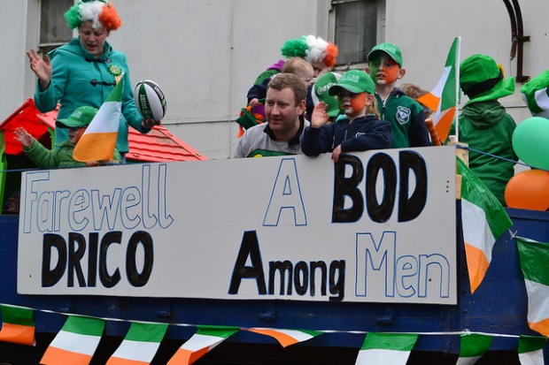 Of course, there were two separate floats celebrating rugby star Brian O'Driscoll