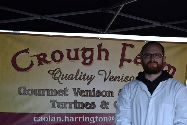 Caolan Harrington, market founder and vendor at Crough Farms Venison