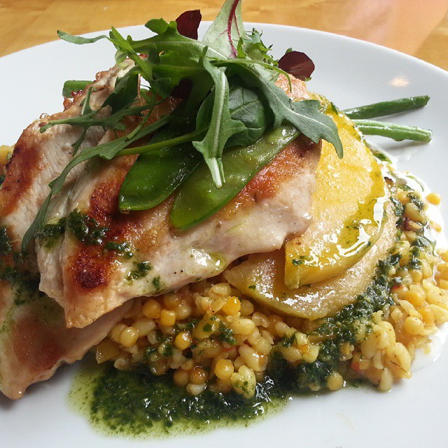Chicken with Harissa & Lemon Bulgur Salad at Cafe Sol in Kilkenny