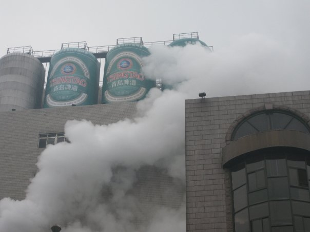No pollution control at the Tsingtao brewery