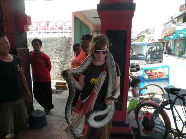Hanging out with the locals in Yogyakarta, Java.