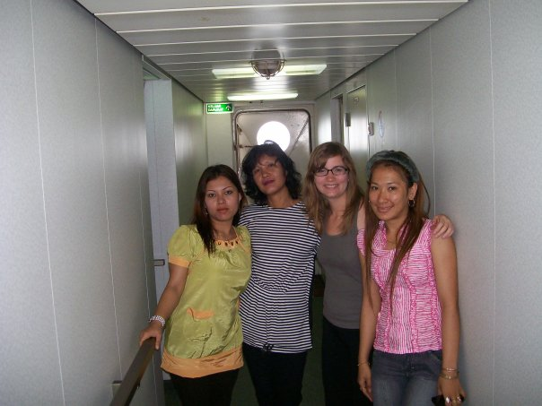 My roomies on the ship to Sumatra.