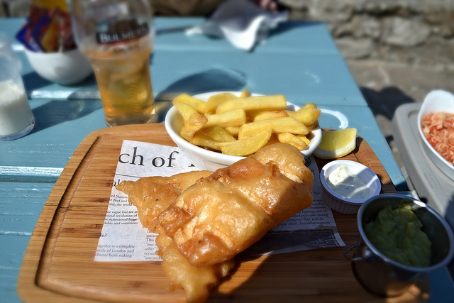 Fish and Chips at Larkins