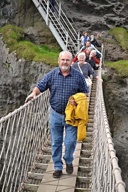 My Dad on the Carrick-a-Rede Rope Bridge