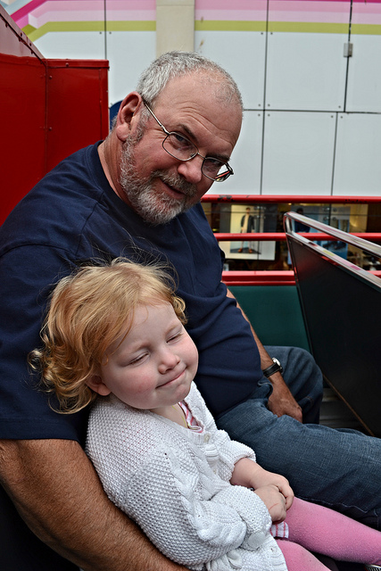 Maeve & Grandpa on the Belfast City Tour
